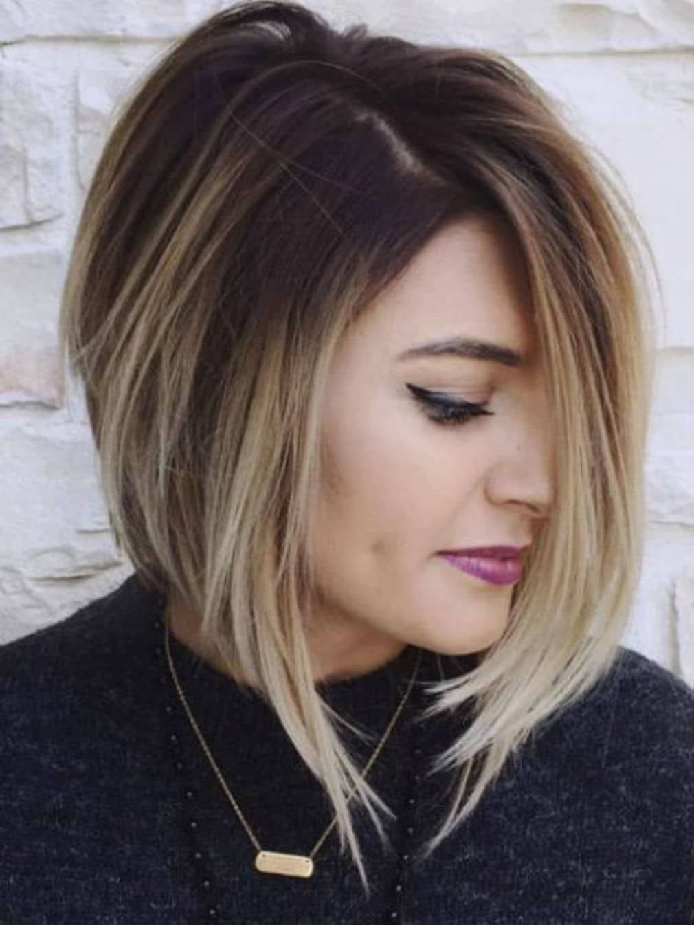 Coupe degradee sur cheveux longs